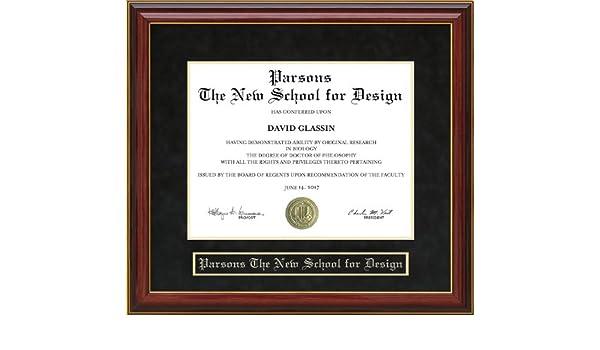 Marvelous Amazon Com Parsons The New School For Design Diploma Frame Interior Design Ideas Clesiryabchikinfo