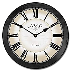 Carolina Gray Wall Clock, Available in 8 Sizes, Most Sizes Ship The Next Business Day, Whisper Quiet.