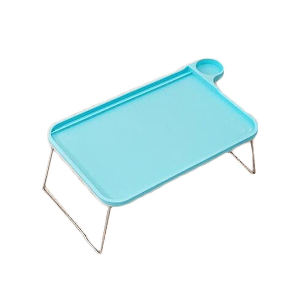 Yevison Foldable Notebook Table,Student Computer Desk Portable t Table Tray Stand for Bed Sofa Blue Durable and Practical