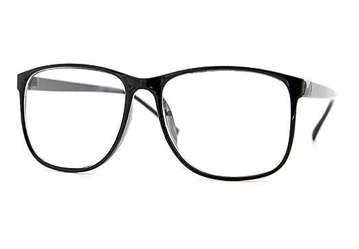 Amazon.com: Square Rectangular Clear Lens Eyeglasses Large Thin ...