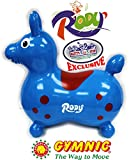 "Gymnic Rody Horse Inflatable Bounce & Ride, ""Mattys Toy Stop"" Exclusive Blue & Red (7024)"