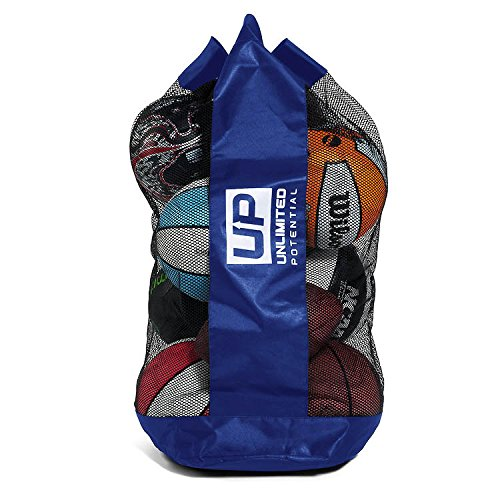 Unlimited Potential Mesh Equipment Bag - Adjustable, Sliding Drawstring Cord Closure. Perfect mesh Bag for Parent or Coach, Making it Easy to Transport and Keeping Your Sporting Gear Organized