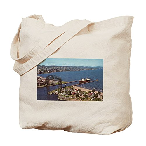 CafePress - Duluth Harbor - Natural Canvas Tote Bag, Cloth Shopping - Duluth Shopping Mn