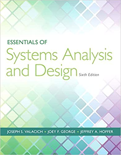 Essentials Of Systems Analysis And Design 6th Edition Valacich Joseph S George Joey F 9780133546231 Amazon Com Books