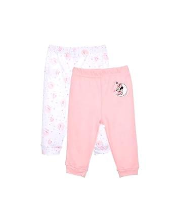 Minnie Lot de 2 Pantalons en Coton bébé Fille Rose et Violet de 1 à 9mois   Amazon.fr  Vêtements et accessoires 82dad078ca3