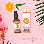 NUVA SKIN Vitamin C Serum for Face and Eyes w/Hyaluronic Acid Serum & Vitamin E, Natural Facial Serum for Acne, Anti Wrinkle, Anti Aging, Fades Age Spots and Sun Damage