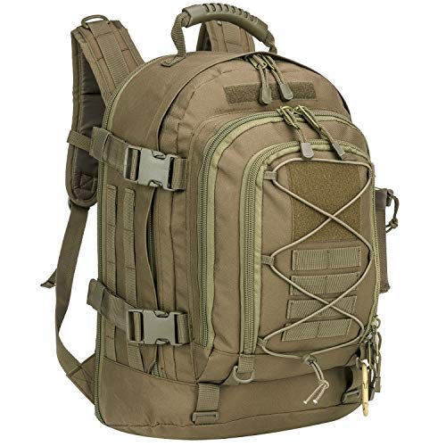 PANS Military Expandable Travel Backpack Tactical Waterproof Outdoor 3-Day Bag,Large,Molle System for Travel,Hiking,Camping,Trekking,Outdoor Sports,Work (o.d.Green)