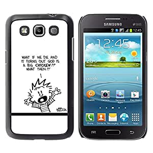 LECELL--Funda protectora / Cubierta / Piel For Samsung Galaxy Win I8550 -- Calvin Hobbs --