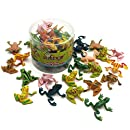"MICHLEY 25pcs 0.9"" Plastic Frogs Toy Mini Frogs"