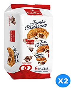 Eurocake Jumbo Chocolate Croissant 2 Packs of 6 Pieces each
