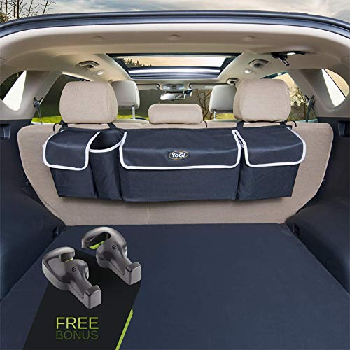 (YoGi Prime Car Organizer Trunk Organizers for SUV Hanging SUV Trunk Organizer Will Provides You The Most Cargo Storage Space Possible, SUV Accessories Your Vehicle Must Have Free Your Caddy Floor)