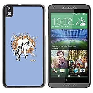 // PHONE CASE GIFT // Duro Estuche protector PC Cáscara Plástico Carcasa Funda Hard Protective Case for HTC DESIRE 816 / Gorilla & Great White High Five /