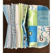 Cloth Baby Wipes Starter Kit. Set of 3 Dozen Wipes. Reusable Cloth Wipes. Baby Shower Gift. Eco Friendly. Reusable Cloth Napkins. 100% Cotton Flannel. Reusable Dryer Sheets.