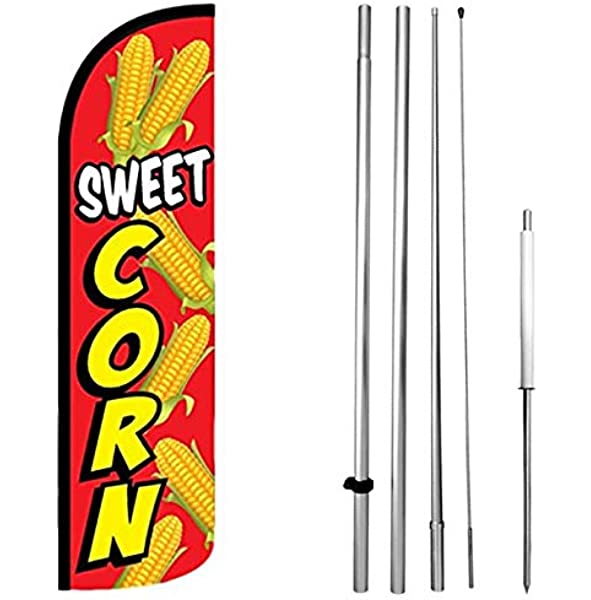 Windless Swooper Flag KIT Feather Banner Mexican Food Sign 15/' Set yq TAMALES