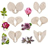 12pcs Gumpaste Flower Silicone Mold - Gum Paste Peony Flower Mold,Fondant Rose Veined Mold,Sugar Flower Cake Decorating Tool for Lily Calliopsis Tulips Wedding Flower Cake Decoration