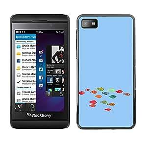 Paccase / SLIM PC / Aliminium Casa Carcasa Funda Case Cover - Funny Colorful Koi Fish - Blackberry Z10