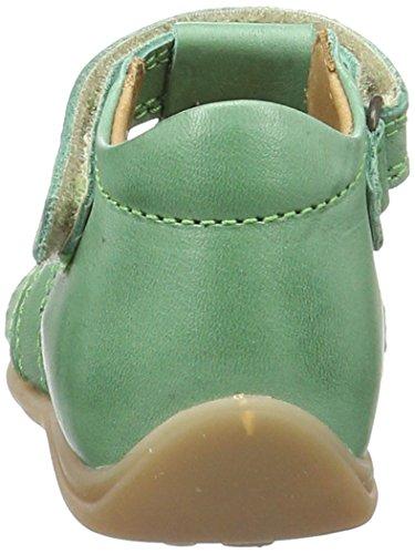 Bisgaard Sandalen 71208114 - Sandalias de cuero para unisex-niño, color amarillo, talla 20 Grün (1001 Green)
