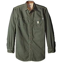 Carhartt Men's Big & Tall Flame Resistant Canvas Shirt Jacket