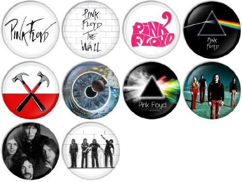 4-Piece C/&D Visionary Licenses Products Pink Floyd Dark Side of The Wall Assorted Artworks 1.25 Button Set