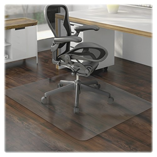 e-joy Porpora Office Chair Mat for Hardwood Floor, Great Clear Vinyl Hard Floor Mat With Smooth Surface, Anti-Slip Thick And Sturdy Desk Floor Protective Mats 48 36