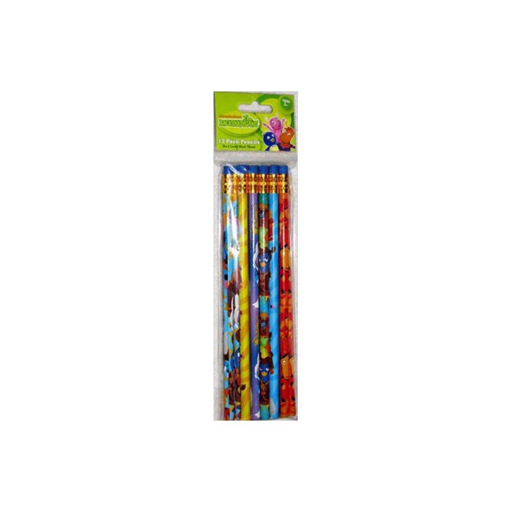Backyardigans Yellow//Green//Blue//Orange//Purple Wooden Pencils Pack of 12