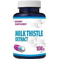 Extrakt av mjölktistel (80% silymarin) 500 mg 180 Veganskapslar, leverstöd, hög styrka, 6 månader en dag