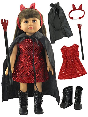 Geisha Makeup Costume (Little Devil Halloween Costume| Fits 18