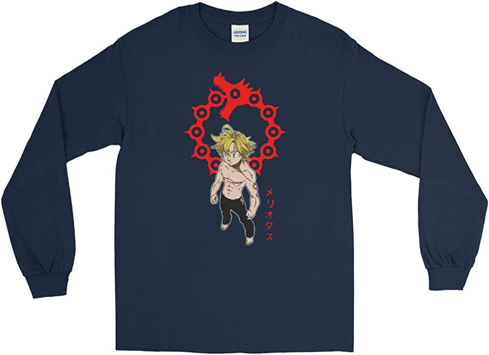 Meliodas Dragon Sin of Wrath Seven Deadly Sins Anime Manga Men//Women Unisex Long Sleeve T-Shirt