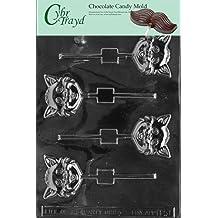 Cybrtrayd H051 Halloween Chocolate Candy Mold, Cat Head Lolly