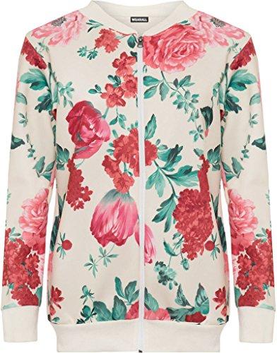 floral Cream Blouson Plus Femme You XxwqfR6q