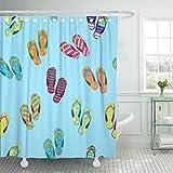 Flip Flop Shower Curtain Emvency 66