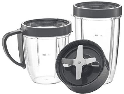 Nutribullet Replacement Parts-NutriBullet Cup & Blade Replacement 5 Pc Set for NutriBullet Replacement High Speed Blender Mixer System