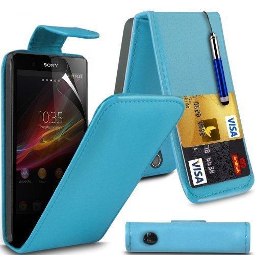 Sony Xperia Z Leather Flip Case Cover (Baby Azul) Plus de regalo libre, Protector de pantalla y un lápiz óptico, Solicitar ahora mejor caja del teléfono Valorado en Amazon! By FinestPhoneCases