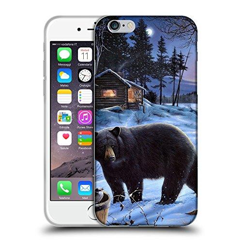 """Just Phone Cases Coque de Protection TPU Silicone Case pour // V00004090 Gardez à côté de la cabane de forestier // Apple iPhone 6 6S 6G PLUS 5.5"""""""