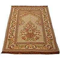 Best Quality Goblen Silk Brocades Islamic Prayer Rug Janamaz Sajjadah Muslim Namaz Seccade Turkish Prayer Rug (Mihrab)