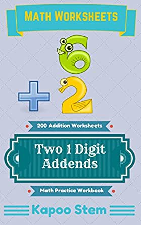 Free Worksheets education com free worksheets : Amazon.com: 200 Addition Worksheets with Two 1-Digit Addends: Math ...