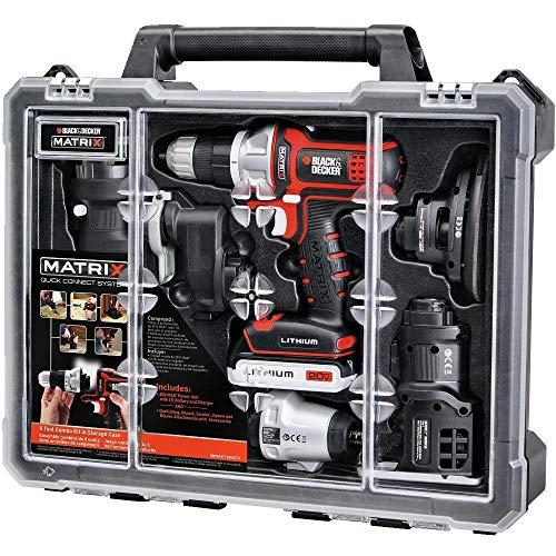 BLACK+DECKER BDCDMT1206KITC Matrix 6 Tool Combo Kit with Case (Renewed)