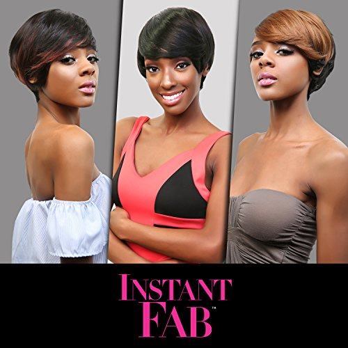 Instant Fab Remi Human Hair Wig Modern Fringe (1B)