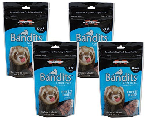 (4 Pack) Marshall Bandits Freeze Dried Duck Treats for Ferrets