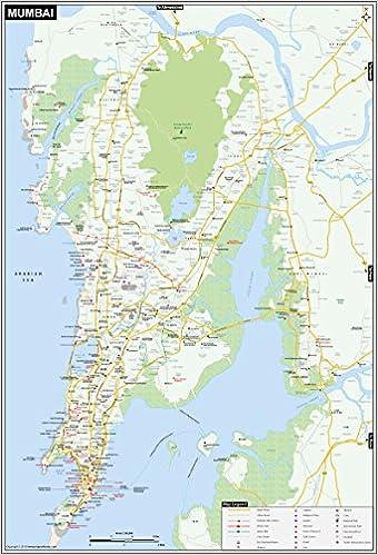 Mumbai On Map Of India.Amazon In Buy Mumbai Map Printed On Vinyl Book Online At Low