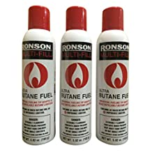 3 CANS RONSON MULTI-FILL ULTRA BUTANE FUEL 5.82 oz 165 g These Are The BIG Cans!