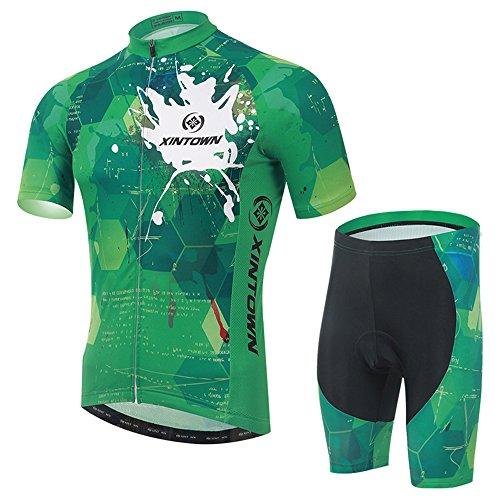 ふけるショートすでにDdkis(デーデーキス) メンズ 春夏 半袖 サイクルジャージ 自転車ウエア 上下セット 77041