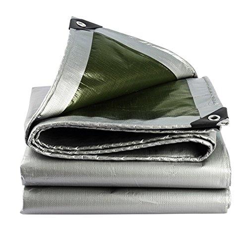 恐怖苦しめる仕立て屋JIANFEI オーニング 効率的な 防水 断熱 トラック ポリエチレン 180G/m2、 厚さ0.35MM、 オプション21サイズ (色 : Silver+Army Green, サイズ さいず : 4m × 5m)