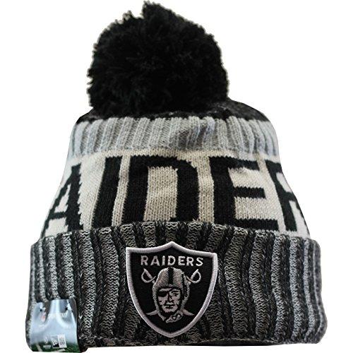 New Era Oakland Raiders 2017 On-Field Sport Knit Beanie Hat/Cap (New Era Beanie)