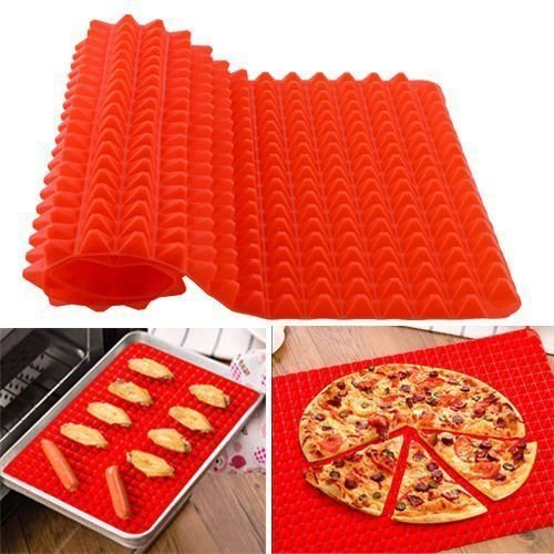 Pyramid Pan Non Stick Fat Reducing Silicone Cooking Mat Oven