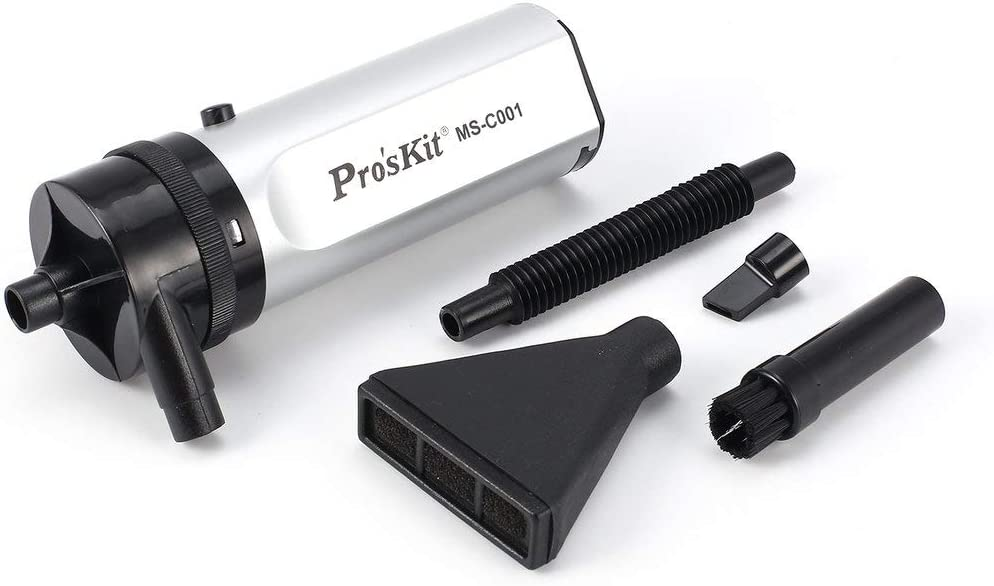 ProsKit MS-C001 High-Power Portable Hand-held Mini Vacuum Cleaner for Disk Hardware Keyboard Screen USB Dust Collector Laptop