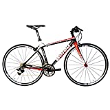 Cheap BEIOU 2016 Carbon Comfortable Bicycles 700C Road Bike LTWOO 210 Speed SRAM Brake Complete 18.3 lb Hybrid Bike Toray T800 Fiber CB0012B (White Red, 520mm)