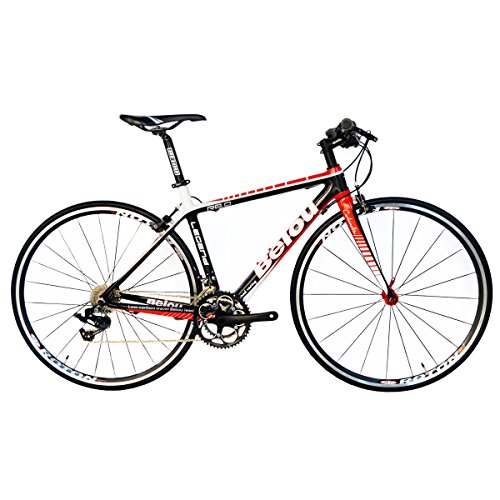 BEIOU Carbon Comfortable Bicycles 700C Road Bike Shimano TIAGR 4700 210S or LTWOO 210 Speed SRAM Brake Complete 18.8 lb Hybrid Bike Toray T800 Fiber CB0012B
