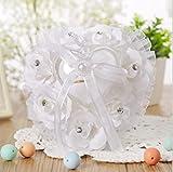Giga Gud Heart Wedding Ring Pillow Bridal Wedding Ceremony Pocket Ring Bearer Pillow Cushion