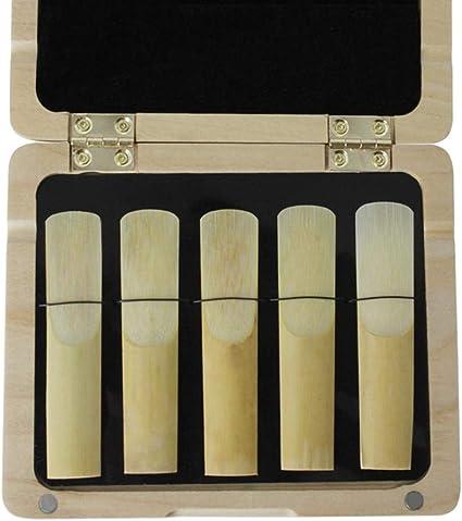 Estuche de Almacenamiento de Caña para Clarinete con Sistema de Monitoreo de Humedad Acerca de 120 mm x 100 mm x 15 mm - Madera: Amazon.es: Instrumentos musicales